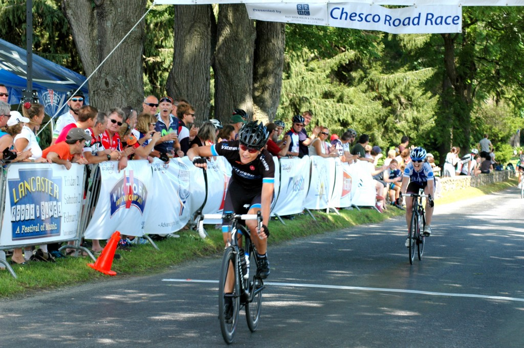 Vitesse Athlete Stephanie Nearpass Gonzalez sprints to victory in the Pro Women's ChesCo Road Race